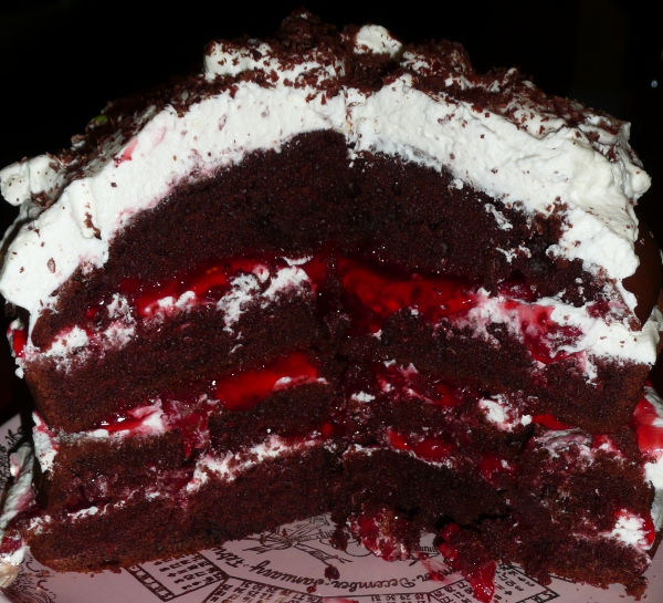 how to make a simple black forest cake