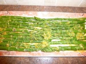 asparagus with creamy vinaigrette