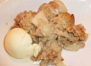 pear and ginger bread pudding
