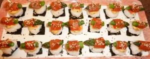 Asparagus Sushi Squares