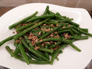 Green Beans with Pepitas and Basil