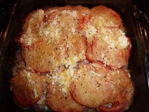 Crusty Potato Tomato Scallop