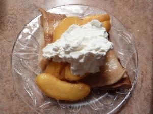 Peach Crepes