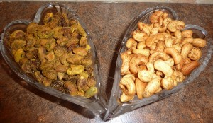 Curried Nuts & Chili Nuts