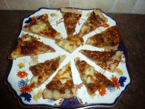 Flatbread with Caramelized Onions and Cheese
