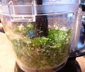 Parsley Pesto - blend the ingredients