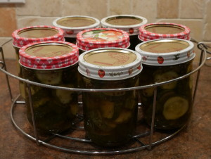 Nine Day Pickles - fill the jars
