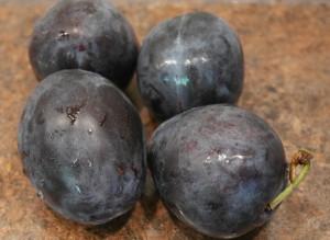 plum jam washed fruit